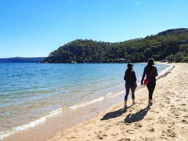 Enjoying the walk along Station Beach