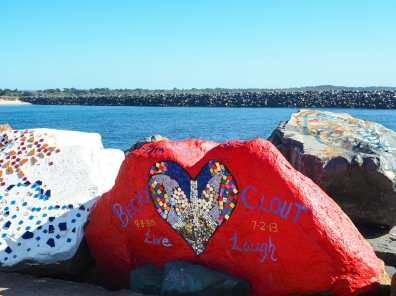 Beautifully decorated breakwall