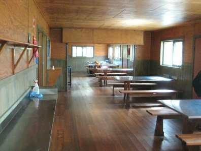 Large communal kitchen in Windermere Hut