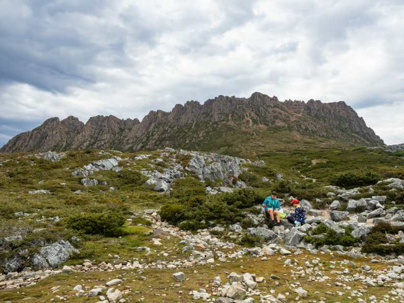 At the base of Cradle Mountain