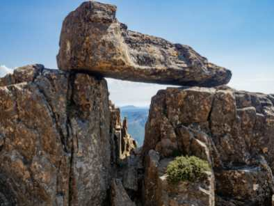 Beautiful rock window on Cradle Mountain