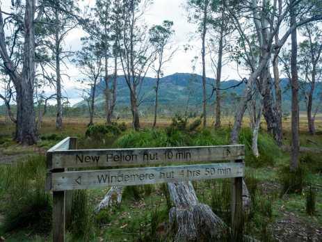 Nearing Pelion Hut