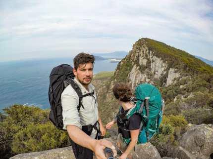 Me and Cal on Arthur's Peak