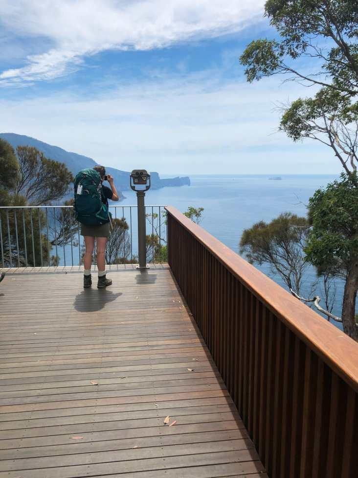 The amazing decking at Munro Hut