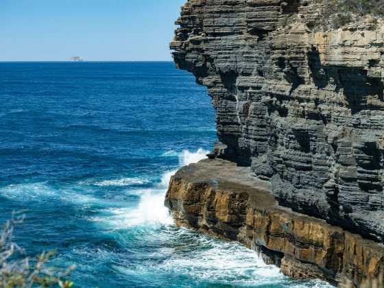 Beautiful coastline surrounding Devil's Kitchen