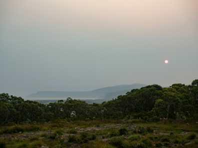 Smoky views from Surveyors Hut