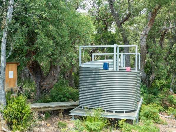 The legendary Munro Hut hot shower system!
