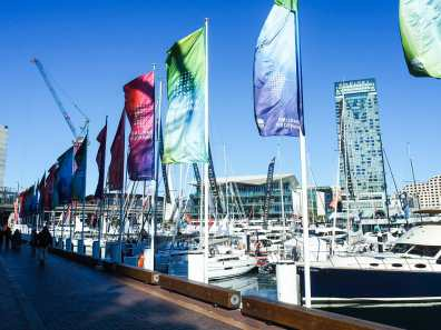 Yacht show at Darling Harbour