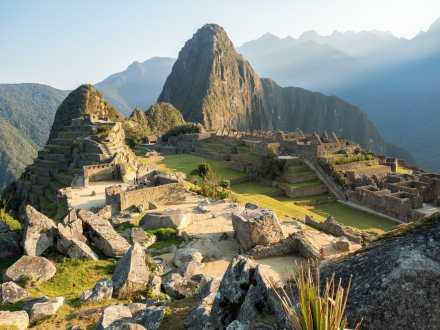 Golden light at Machu Picchu