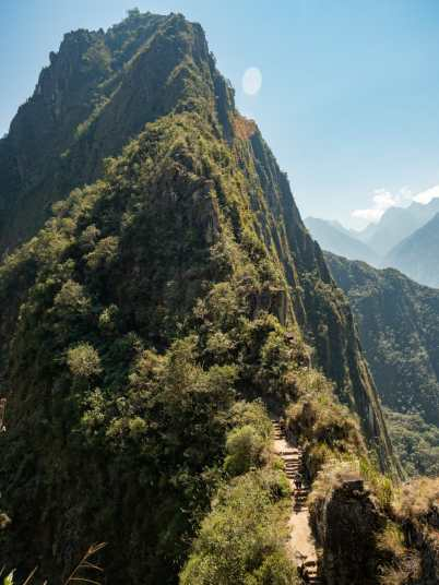 The climb up Huayna Picchu