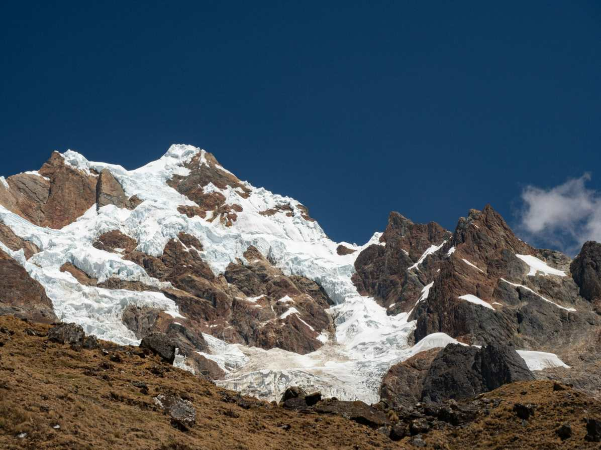 Surrounded by beautiful mountains on the Salkantay Trek