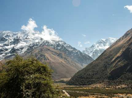 Humantay on the left, with Salkantay peaking out on the right