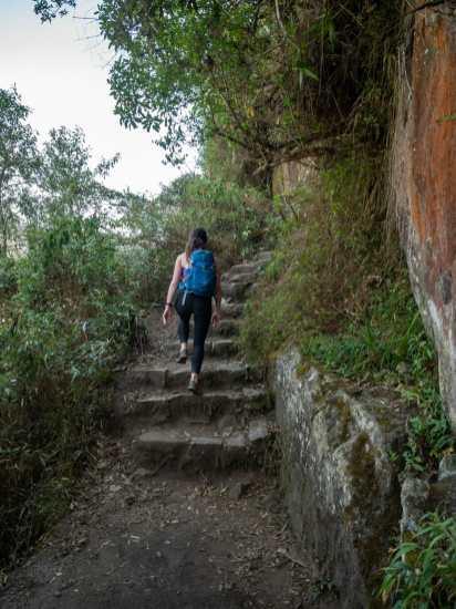 Climbing up Huayna Picchu