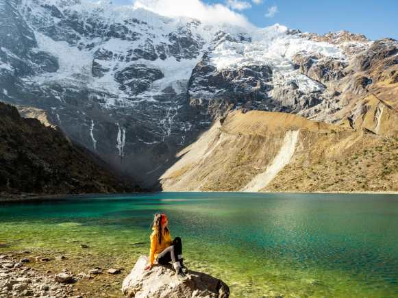 Laguna Humantay on the Salkantay Trek to Machu Picchu
