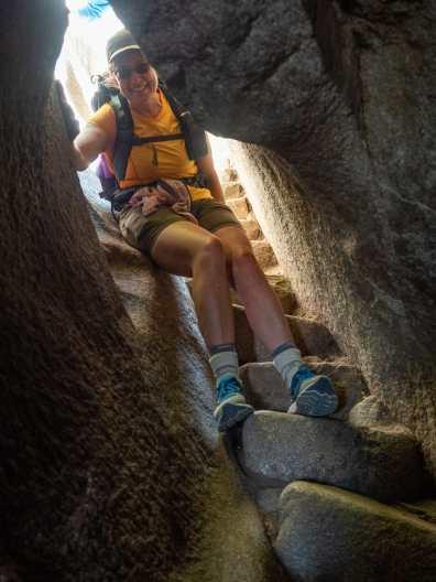 Sticky descent from Huayna Picchu