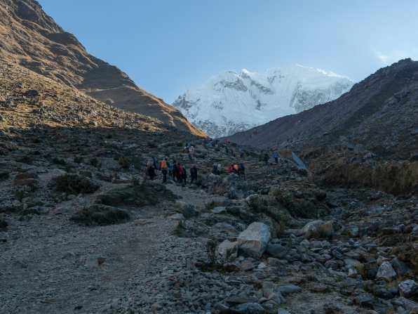 Beginning our climb towards Salkantay Pass