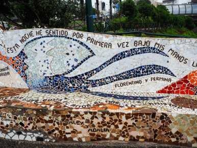 Beautiful mosaic in Parque Amor. Recognise the names?