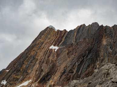 Beautiful igneous rock near the pass