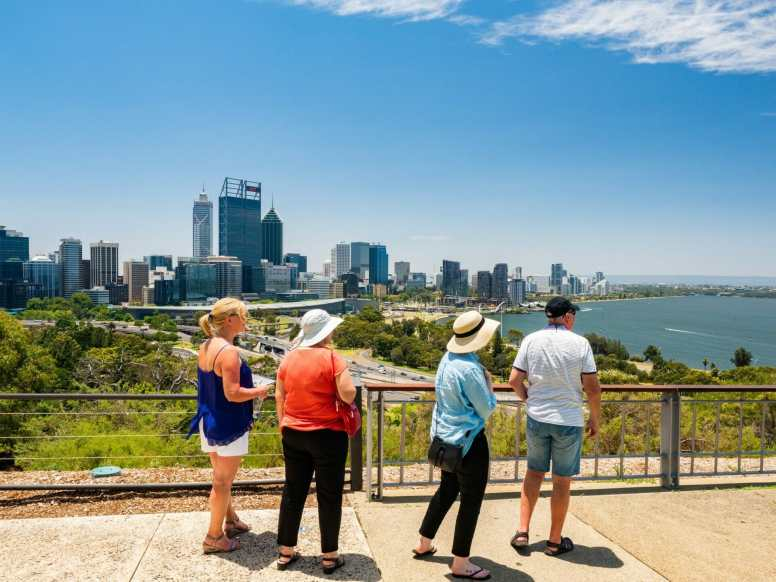 People at King's Park Perth Western Australia