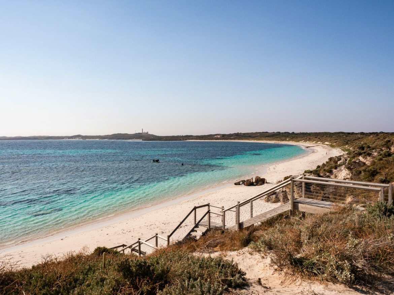 Coastline sunset Rottnest Island Perth Western Australia