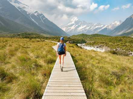 Hooker Valley and a smoky Mt Cook
