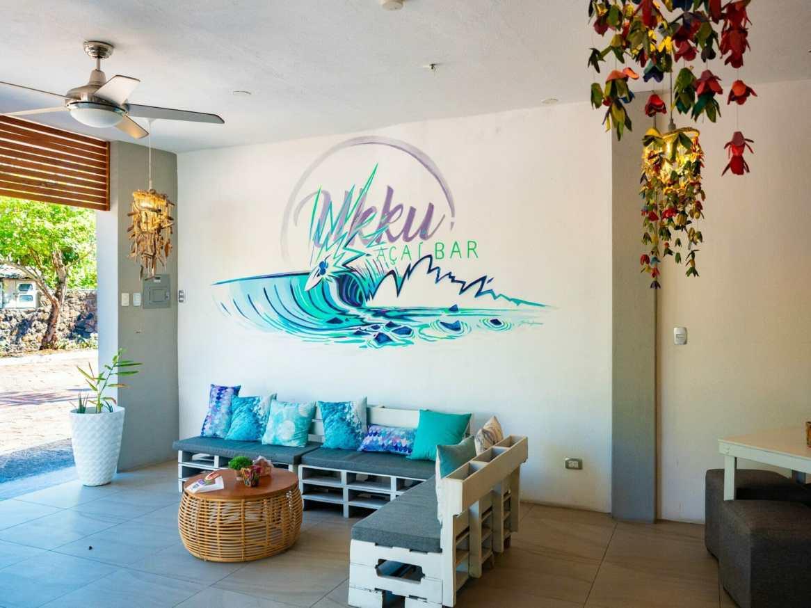 Ukku açai restaurant in Puerto Ayora Galápagos