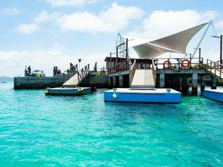 Ferry pier at Puerto Villamil, Isla Isabela