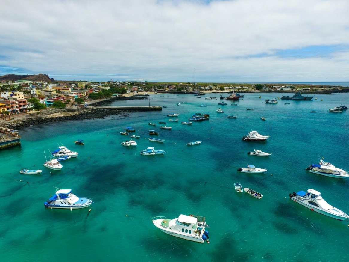 Boats in port San Cristobal
