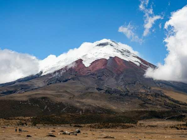 View of Cotopaxi Volcano in Ecuador