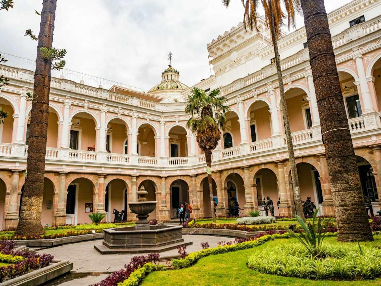 Museo de la Ciudad courtyard in Quito