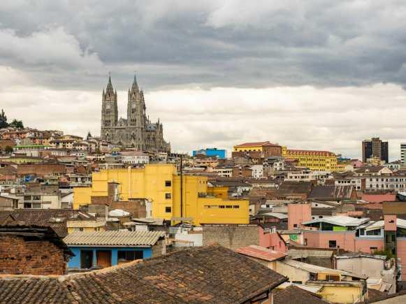 View of Quito Ecuador