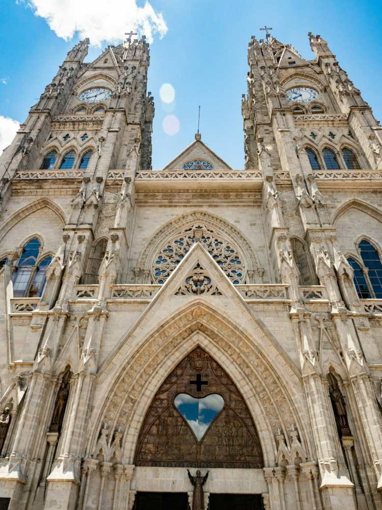 Facade of Basílica del Voto Nacional