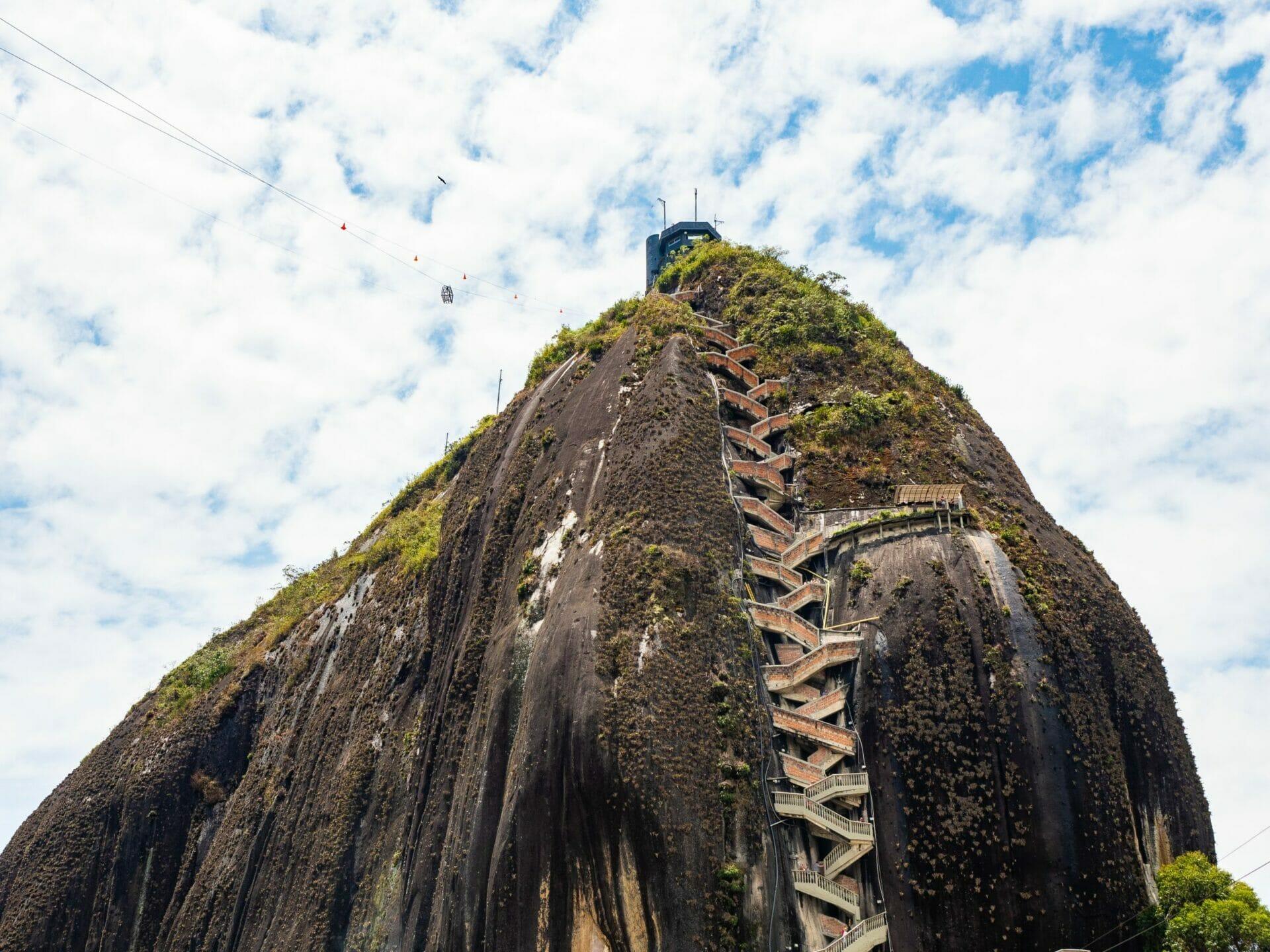 Stairs La Piedra Guatapé rock