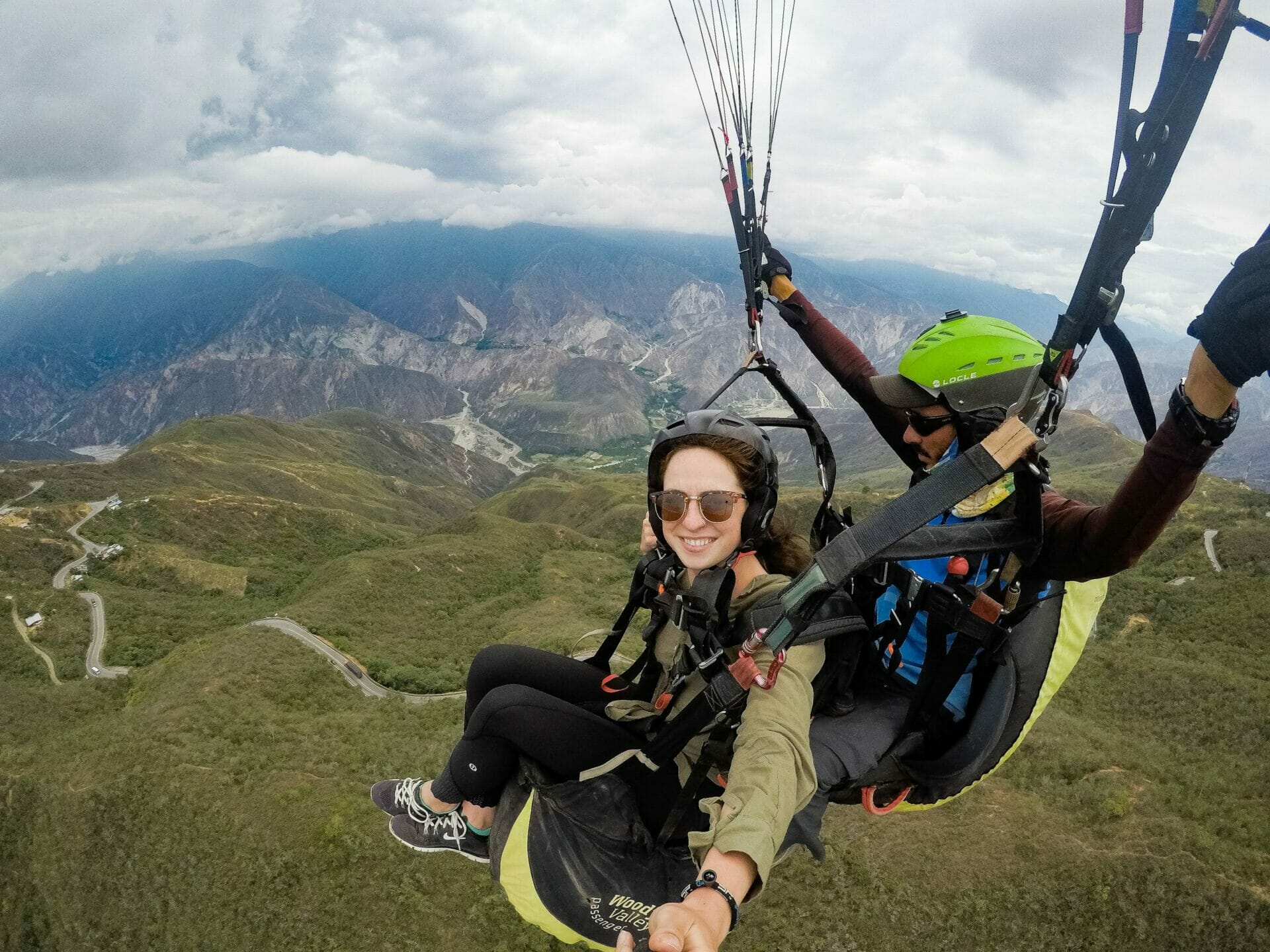 Paragliding over Chicamocha Canyon San Gil Colombia