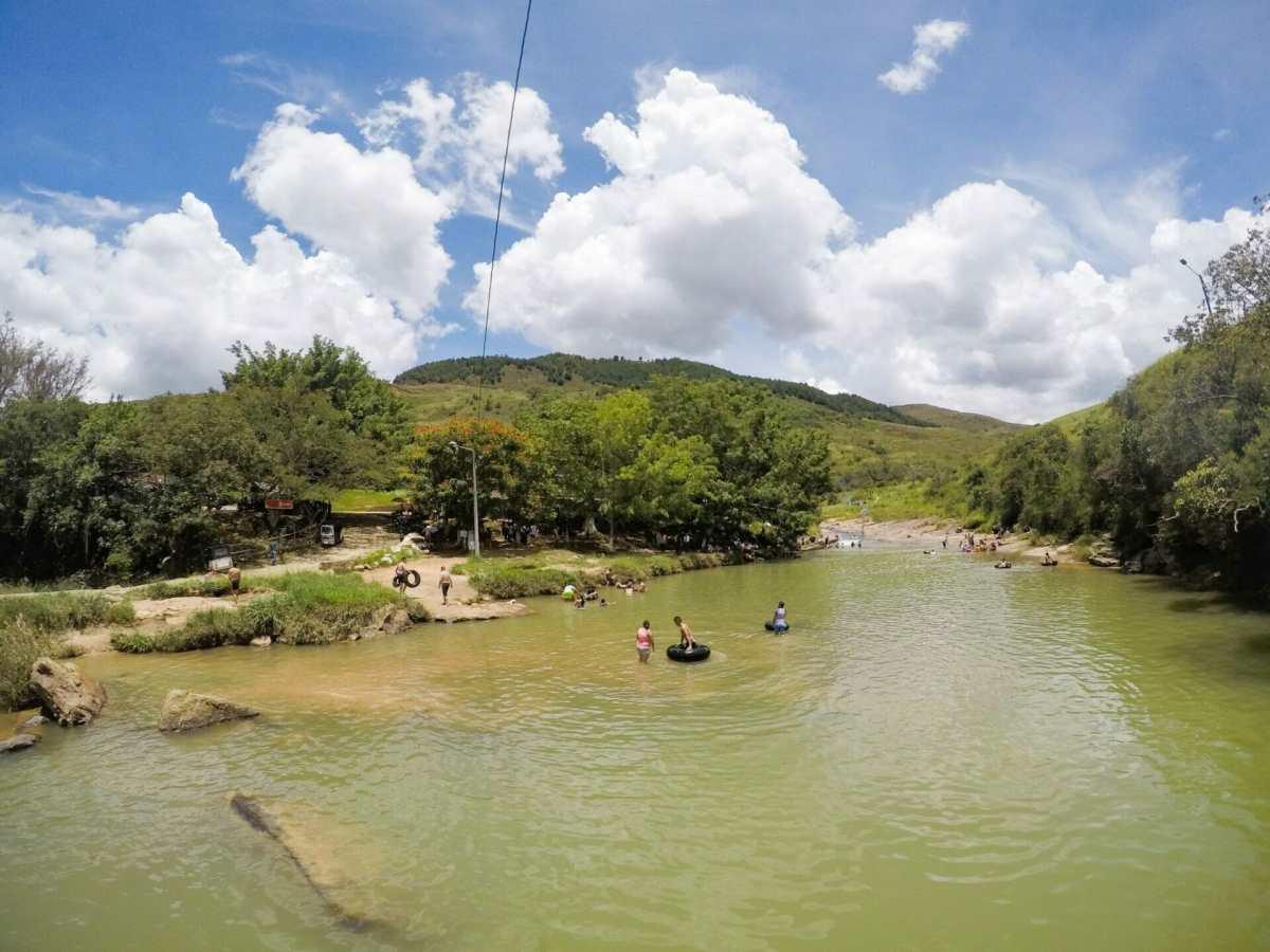 Pescadarito swimming holes in San Gil Colombia