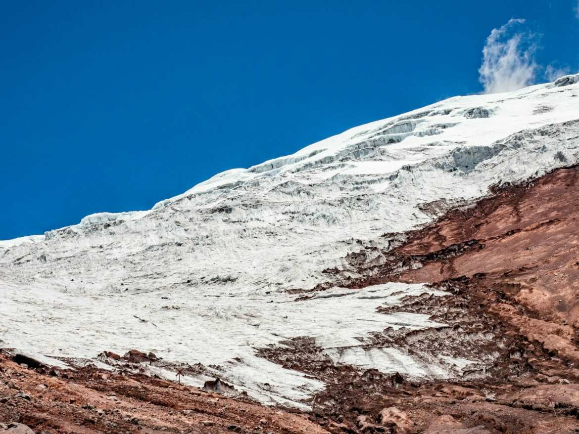 View of Cotopaxi Glacier on hike