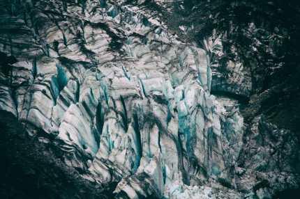 Blue ice on Fox Glacier