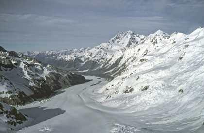 Franz Josef glacier from above