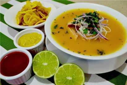 Seafood soup Ecuador