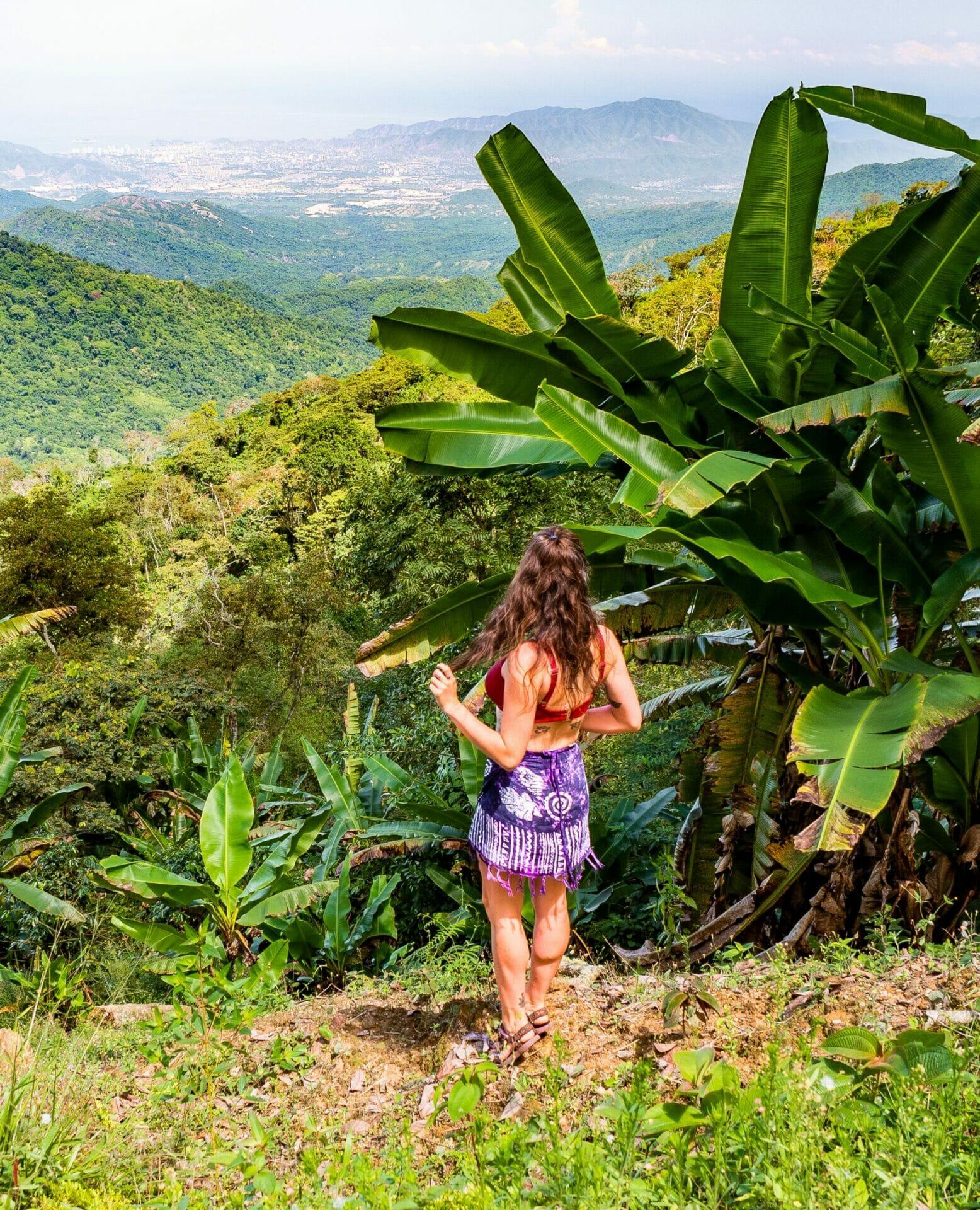 Girl bikini viewpoint Los Pinos Minca Colombia