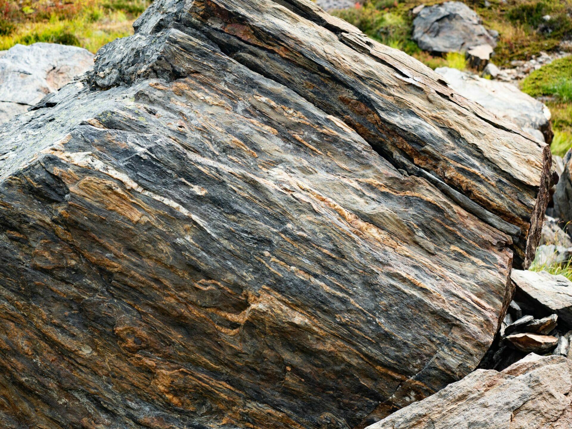 rock schist layers