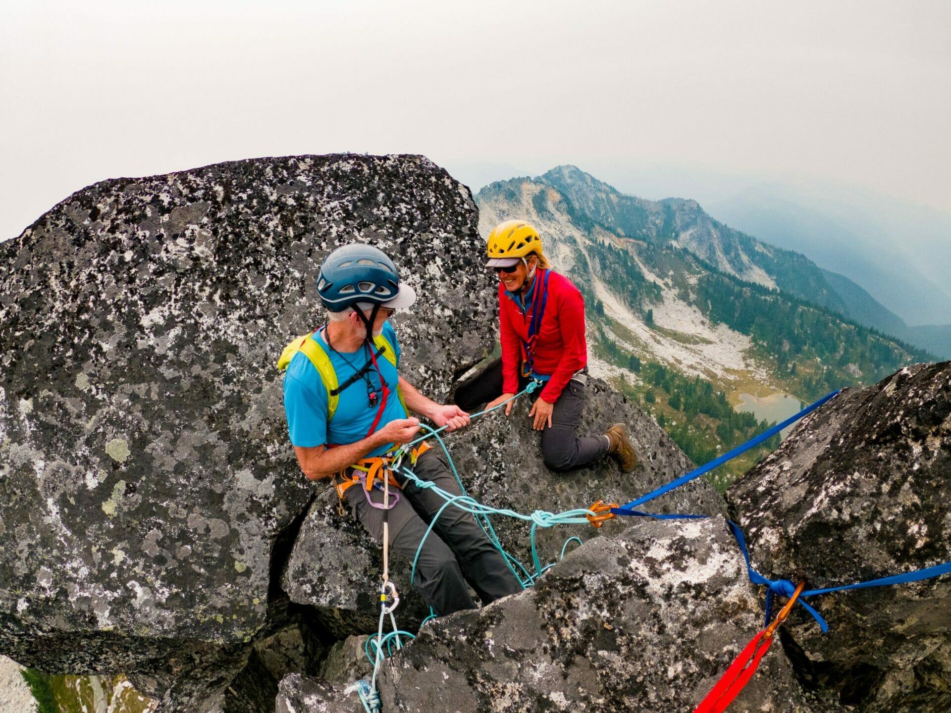 girl climbing Bulls Tooth Alpine Lakes Wilderness