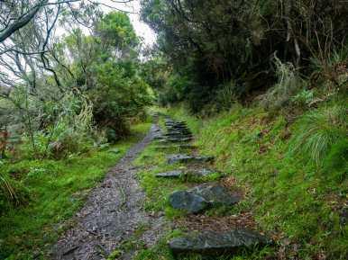 Great Ocean Walk hike Australia rain steps