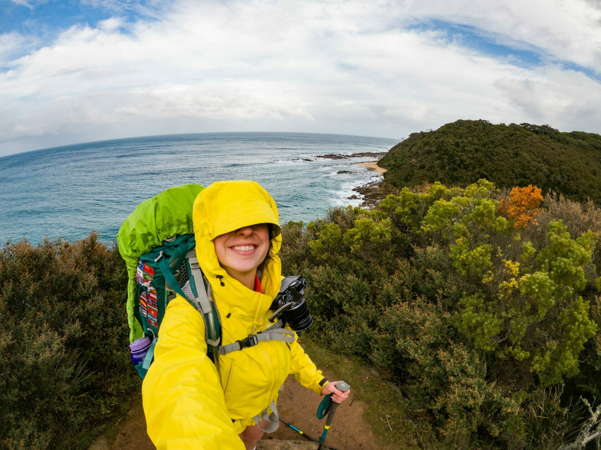 Great Ocean Walk hike Australia solo female hiker rain