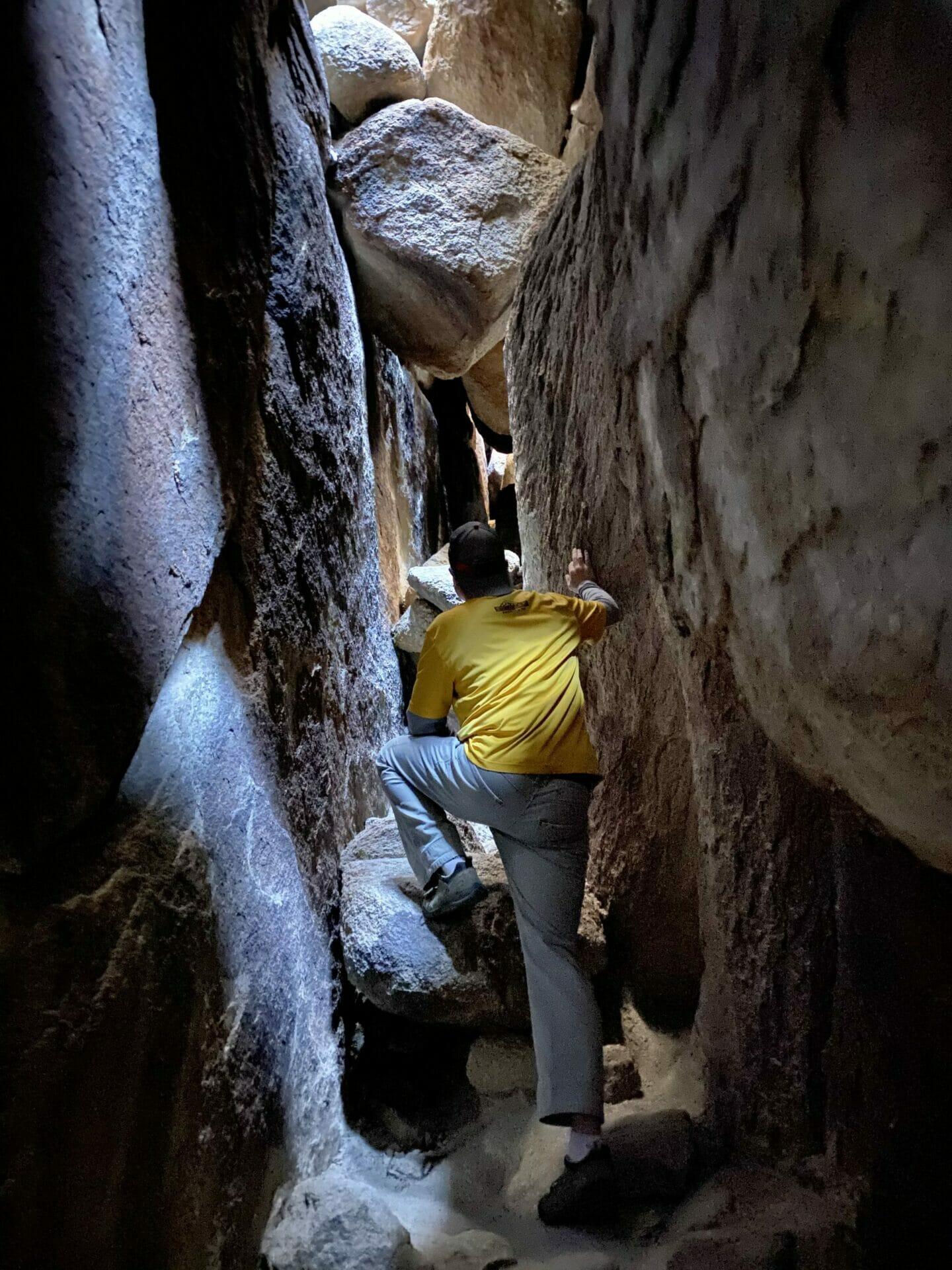 Chasm of Doom hidden gem Hidden Valley Joshua Tree National Park