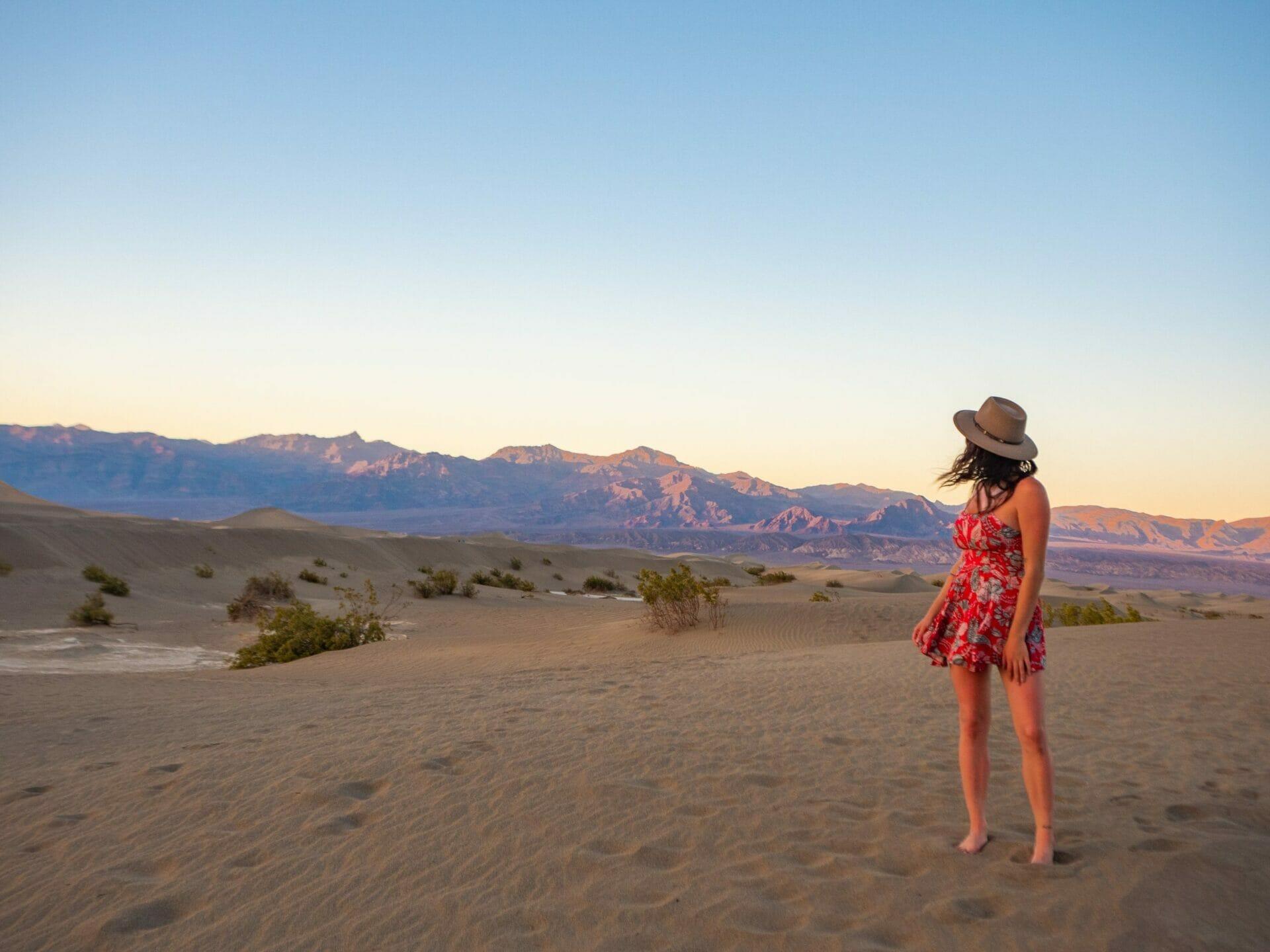 Death Valley National Park Mesquite Sand Dunes