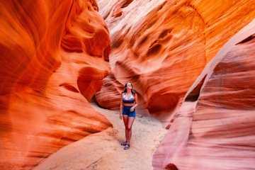 Hiking Kayaking Antelope Canyon without a tour Page Arizona