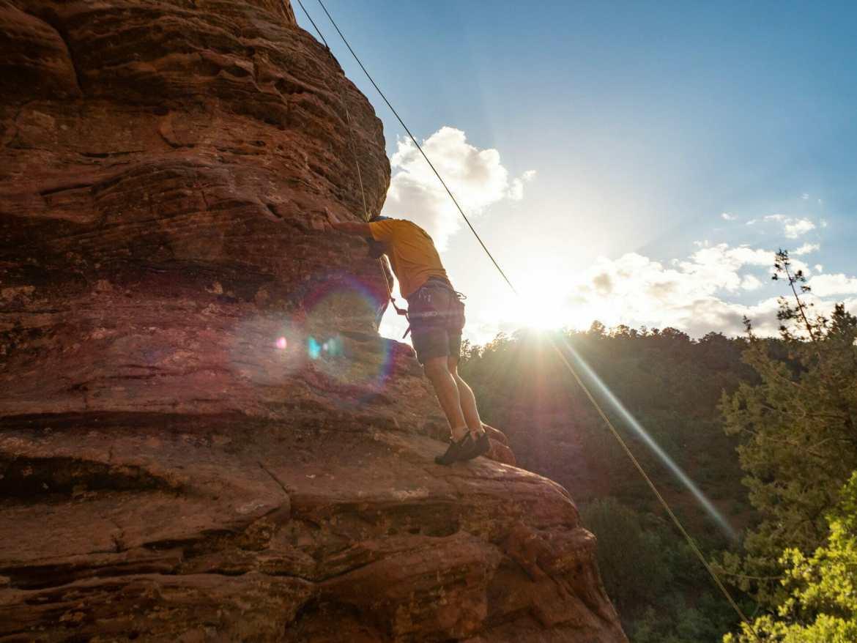 Climbing tour Zion National Park Lambs Knoll