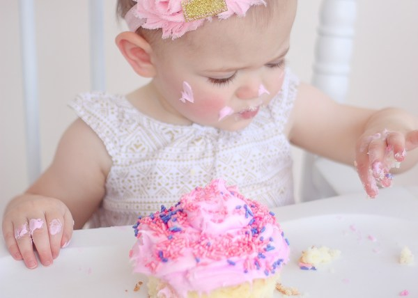 smash cake birthday photos
