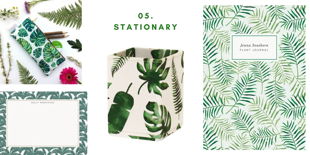 SHOP THE TREND - Leaf Print stationary